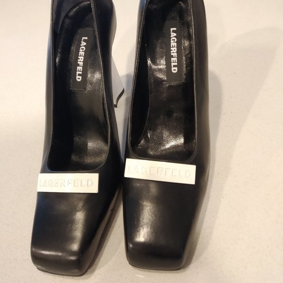 Genuine Karl Lagerfeld Black and White High Heels